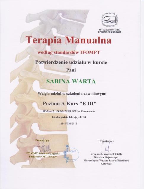 Sabina-certyfikat1