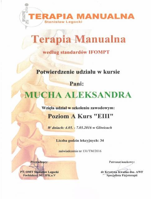 certyfikat-terapia manulana