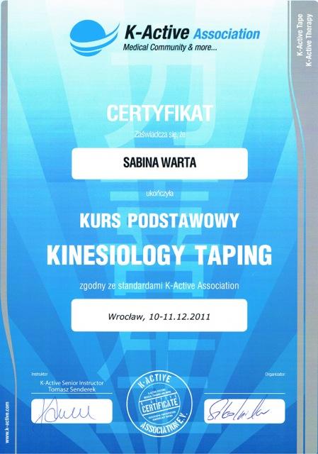 kurs kinesiology taping